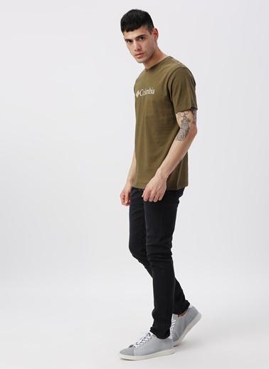 Columbia Columbia CS0001 Csc Basic Logo Short Sleeve Erkek    T-Shirt Yeşil